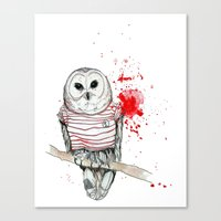 Canvas Print featuring Number One by Stroke a Bird