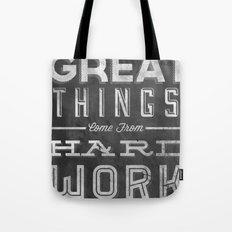 Great Things in Chalk Tote Bag