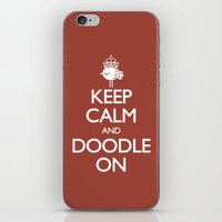 Keep Calm & Doodle On (R… iPhone & iPod Skin