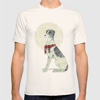 GREYHOUND Mens Fitted Tee Natural SMALL