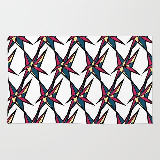 Crystallis [WHITE] Area & Throw Rug