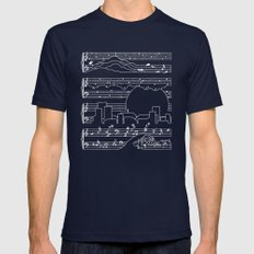 The Moonlight Sonata Blue Mens Fitted Tee Navy SMALL