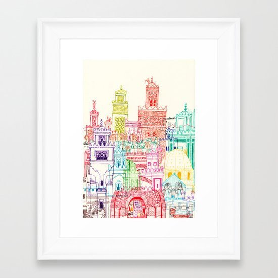 Marrakech Towers  Framed Art Print