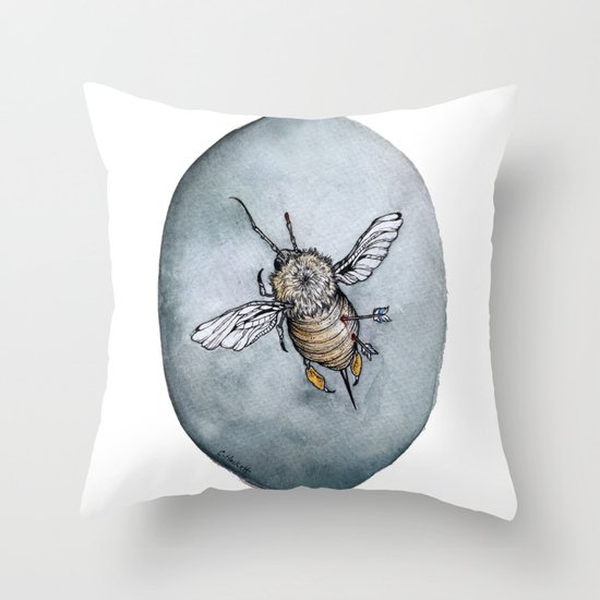 The Queens Last Warrior Throw Pillow