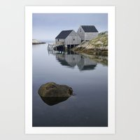 Early Morning at Peggy's Cove Harbor Art Print