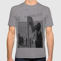 His Music Floats Down to Paris Mens Fitted Tee Athletic Grey SMALL