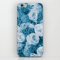 Bouquet Ver.bluegreen iPhone & iPod Skin