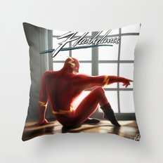 The Flash Dance Throw Pillow