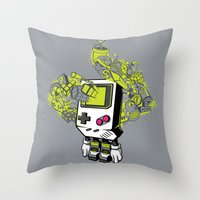 Pixel Dreams Throw Pillow