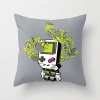 Pixel Dreams Throw Pillow