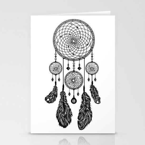 Dreamcatcher (Black & White) Stationery Card