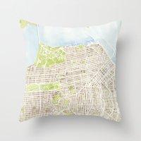 San Francisco CA City Map  Throw Pillow