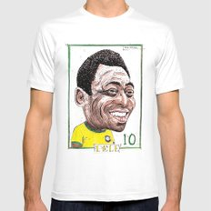 PELE White Mens Fitted Tee SMALL