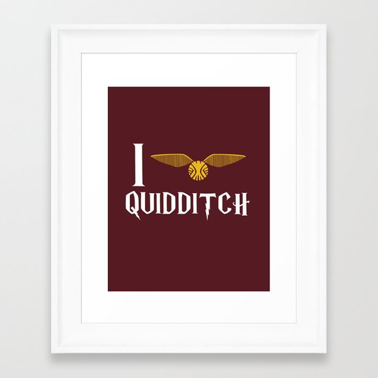 I love Quidditch Framed Art Print