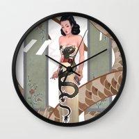 Dragon Lady Wall Clock