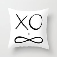 XO Times Infinity Throw Pillow