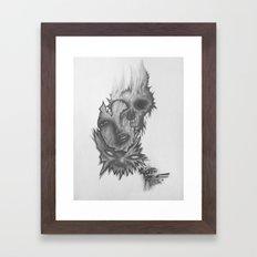 3 Faces Framed Art Print