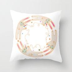Rabbit Moon Throw Pillow