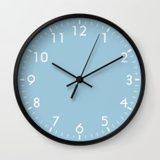 Aquamarine Blue Wall Clock