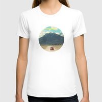 NEVER STOP EXPLORING III Womens Fitted Tee White SMALL