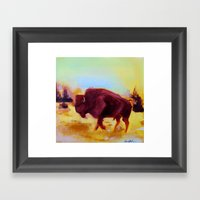 Little Buffalo Framed Art Print