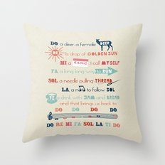 Do Re Mi Fa Sol La Ti Do Throw Pillow