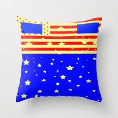 Mr. America  Throw Pillow