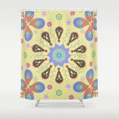 Monster Mandala Shower Curtain