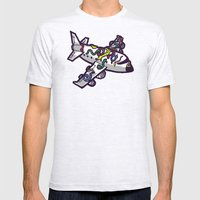 Snakes on a plane, literally   Mens Fitted Tee Ash Grey SMALL