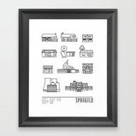 SPRNGFLD Framed Art Print