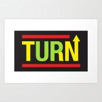 Turnup Art Print