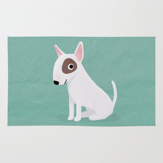 Bull Terrier - Cute Dog Series Area & Throw Rug