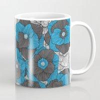 In Bloom (blue & grey) Mug