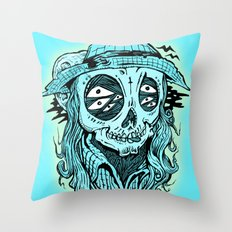 scared crow Throw Pillow