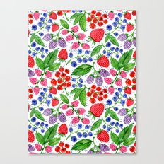 Berry Fruity Canvas Print