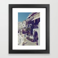 Streets of Santorini I  Framed Art Print