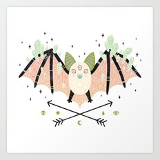 Crystal Bat Art Print