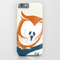 iPhone & iPod Case featuring Little Owlet in a Tree by David Finley