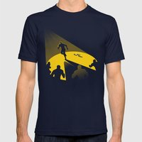 Endless Chase Mens Fitted Tee Navy SMALL