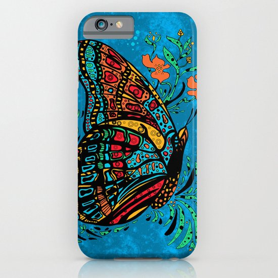 Turquoise Butterfly iPhone & iPod Case
