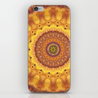 Autumn Fire Mandala iPhone & iPod Skin
