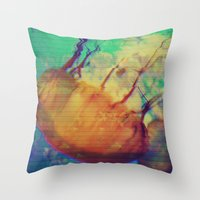 Aquatic Waveform Throw Pillow