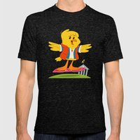 Hover Bird Mens Fitted Tee Tri-Black SMALL