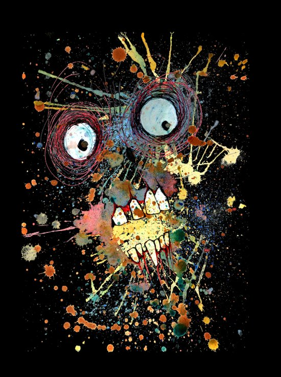 shocked in reverse Canvas Print