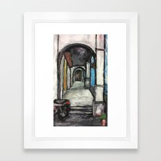 George Town Penang 5ft Way - Finger Painting Framed Art Print