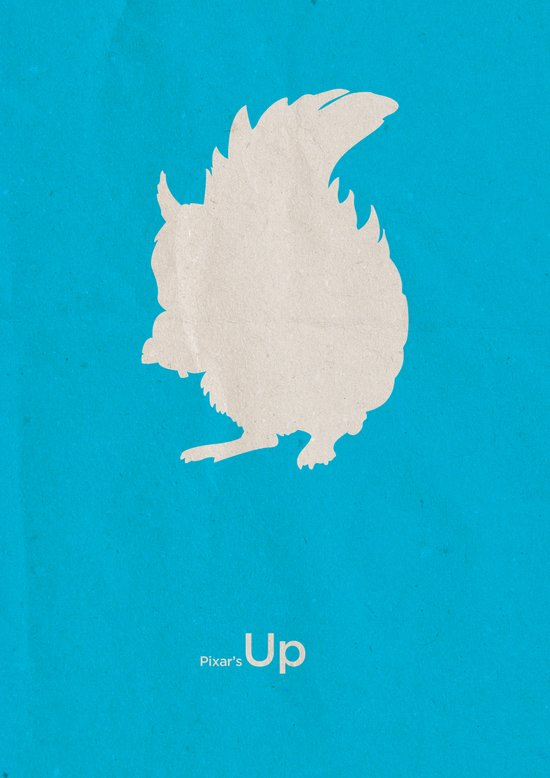 Pixar's Up (Squirrel! version) Art Print