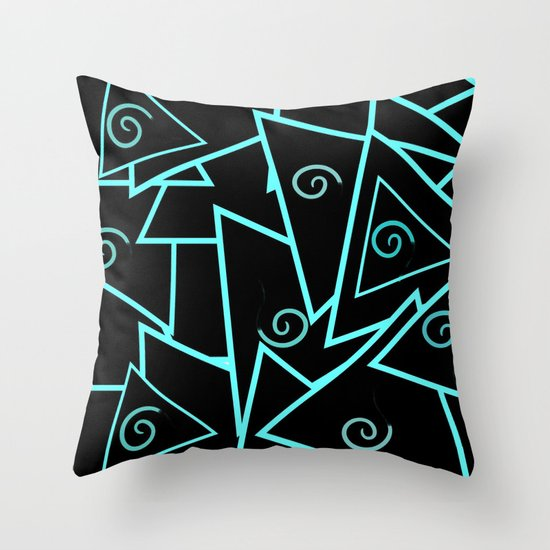 Teal And Black Decorative Pillows : Teal and Black Abstract Throw Pillow by Artisticcreationsusa Society6