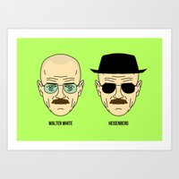 Walter White Or Heisenbe… Art Print
