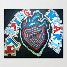 Dying heart Canvas Print