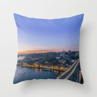 Porto from Serra do Pilar. Throw Pillow